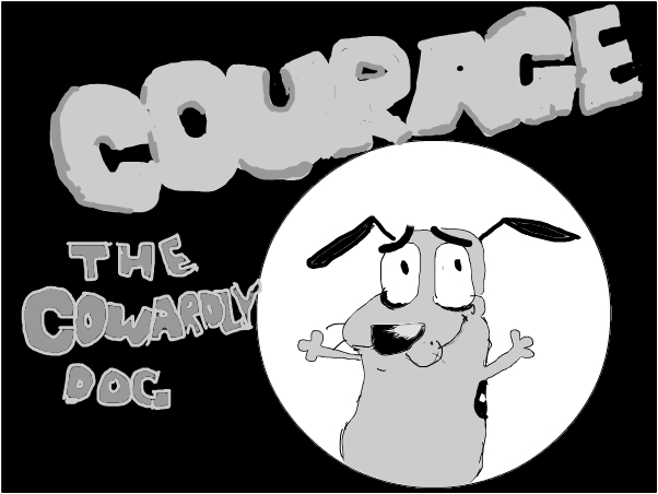 Courage The Cowardly Dog Slimber Com Drawing And Painting Online