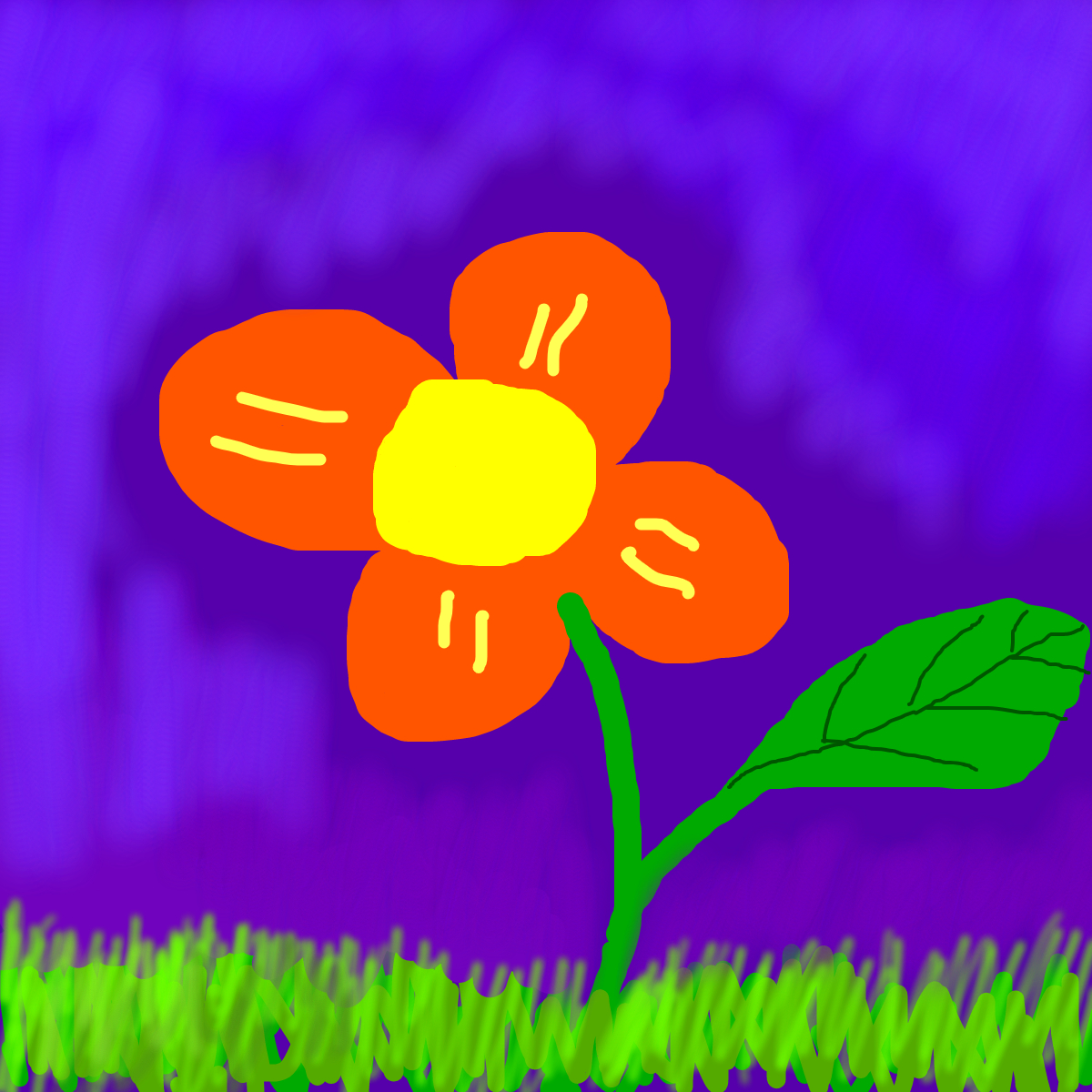 A flower drawing