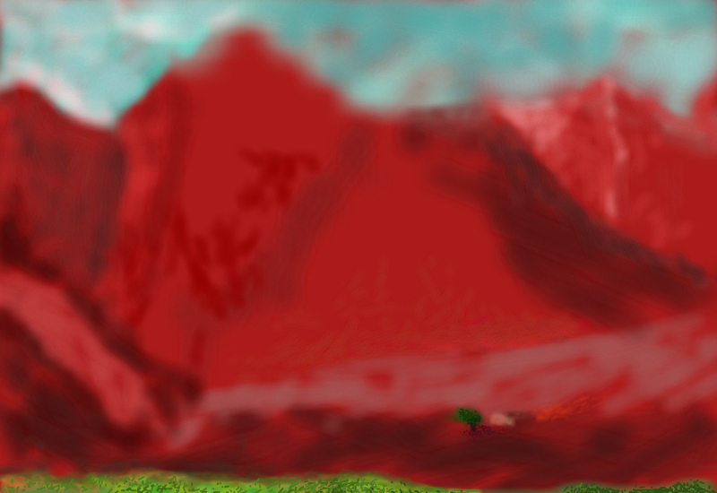 montagne rosse