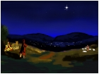 While Shepherds watch their flocks by night