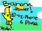 banana power holding i-phone 6 plus