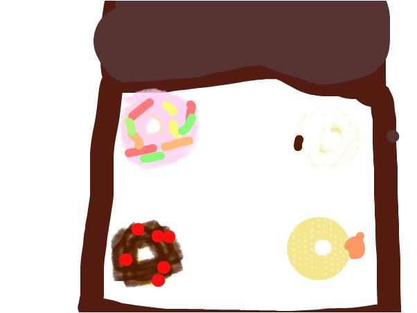 A box of doughnuts